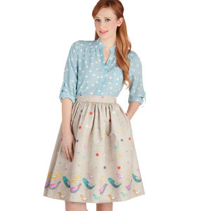 Bea & Dot Scrapbook Swap Skirt Large Modcloth